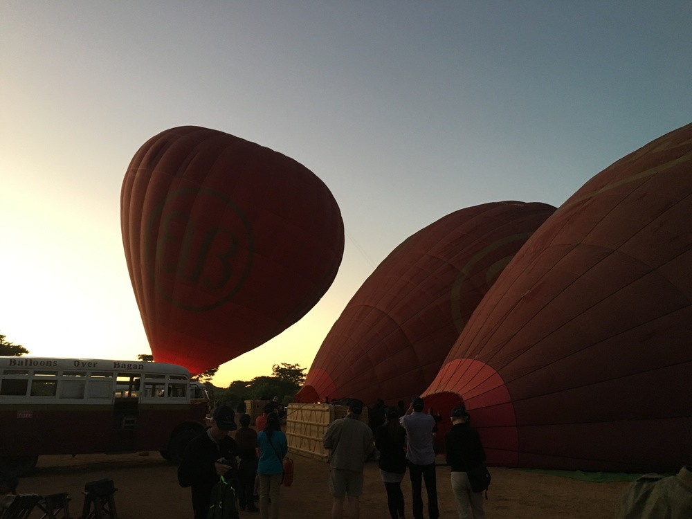 Balloons inflating