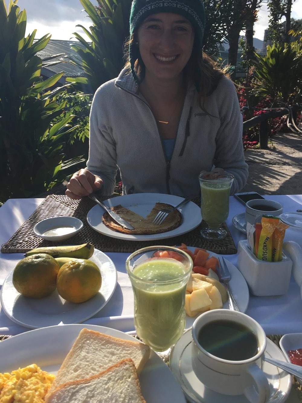 Pre-trek breakfast
