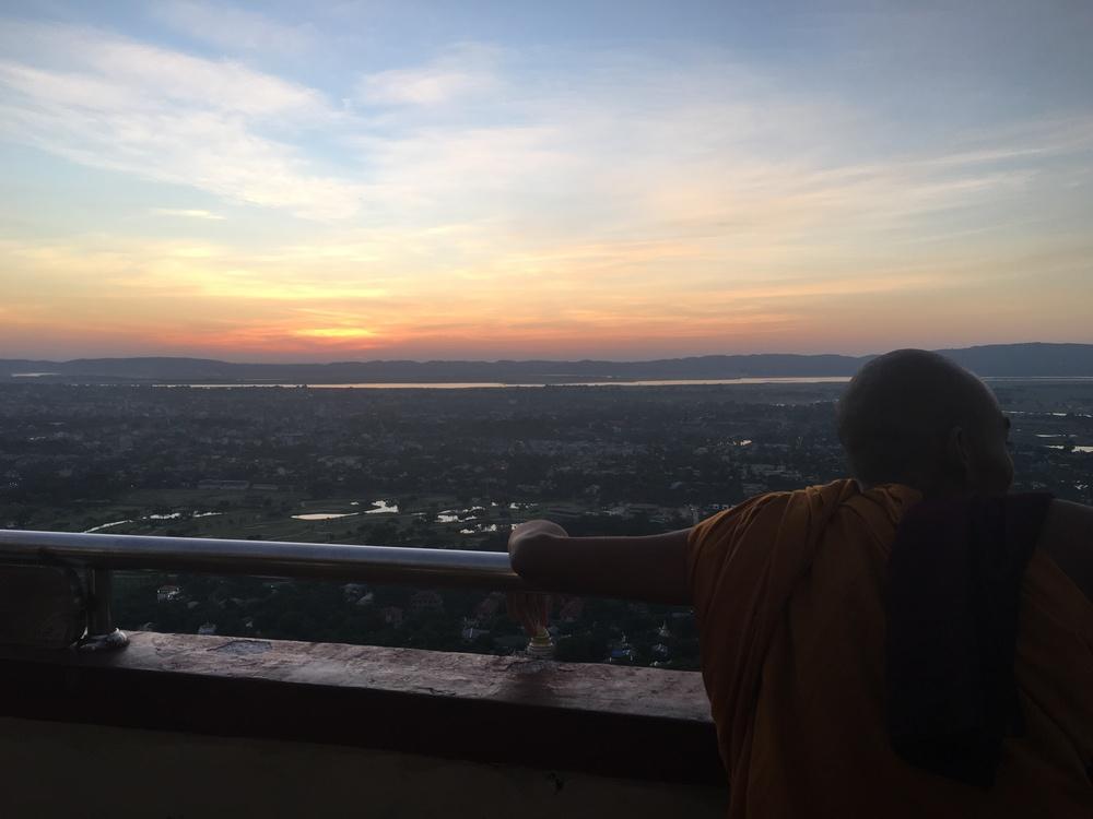 Monks like sunsets too