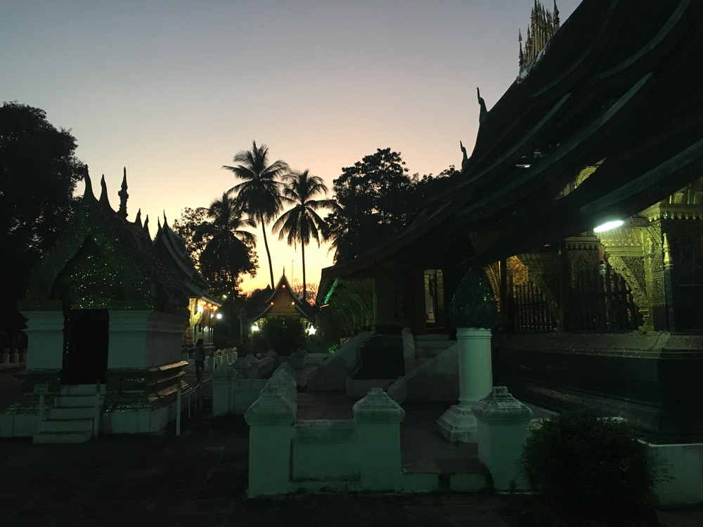 Sunset at Wat Xieng Thong