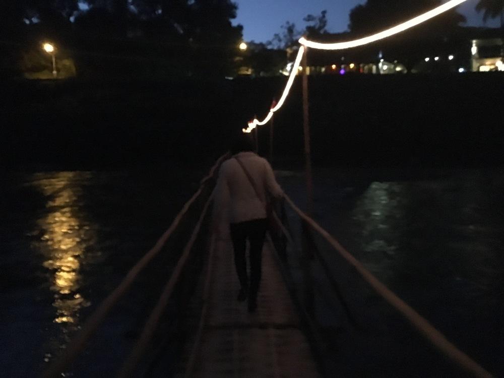 Bamboo Bridge at night