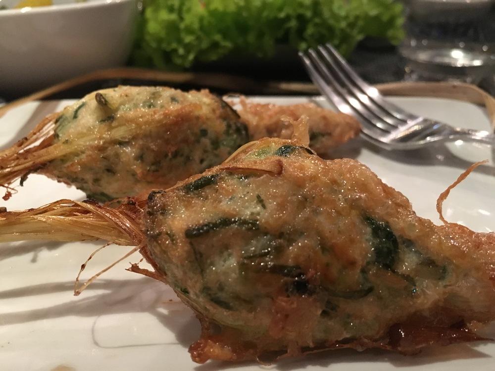 Lemongrass stuffed with chicken!