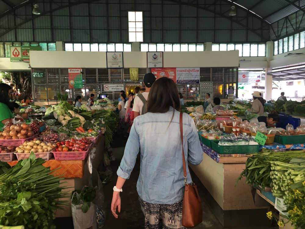 Touring the market pre cooking class