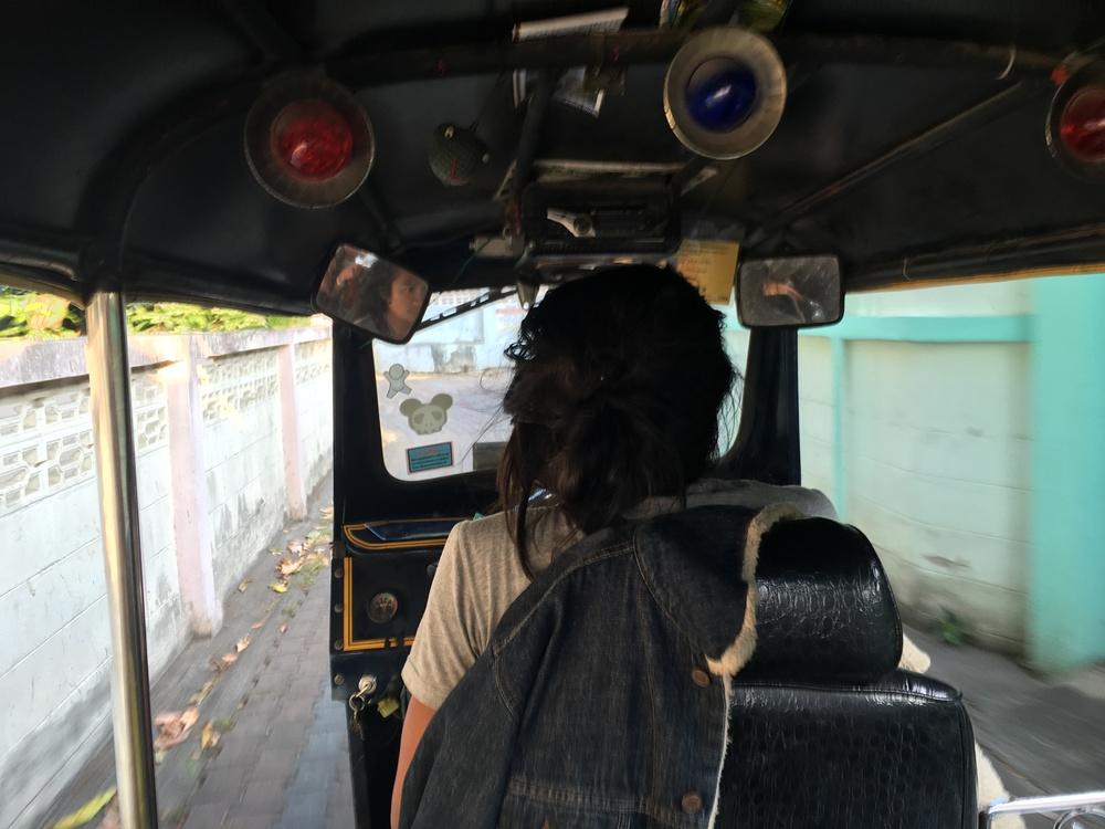Narrow roads = tuk tuks