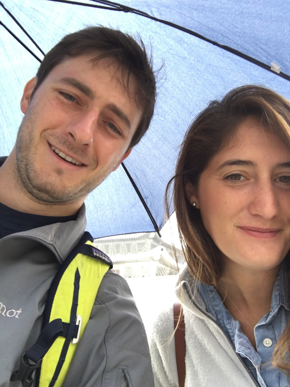Rain selfie