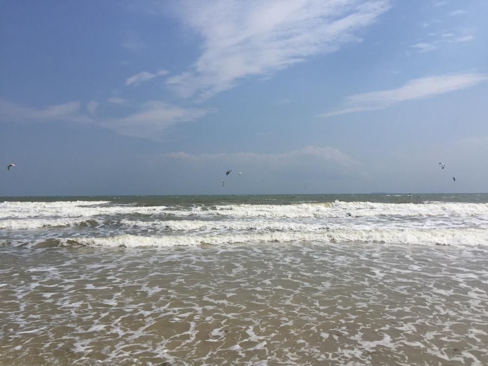 Kites at Chumphon beach