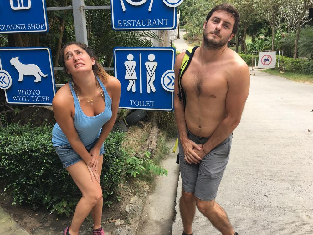 Bathroom signs