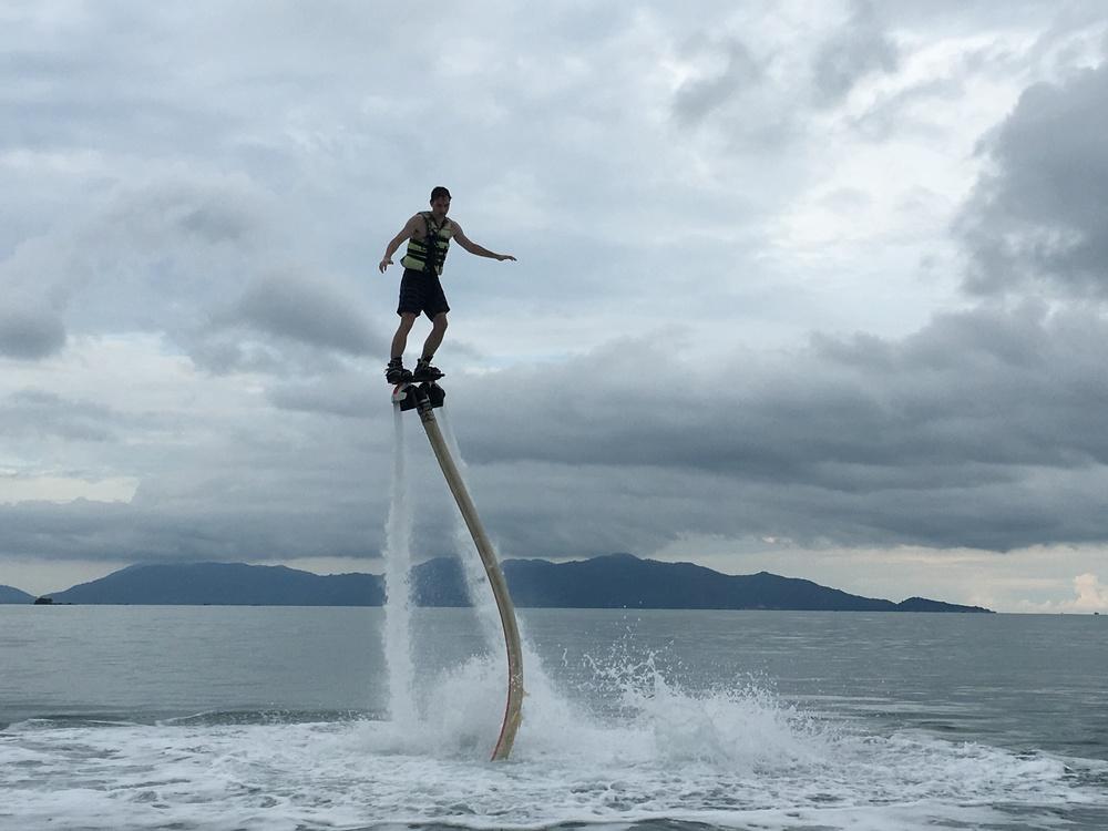 Sean flying
