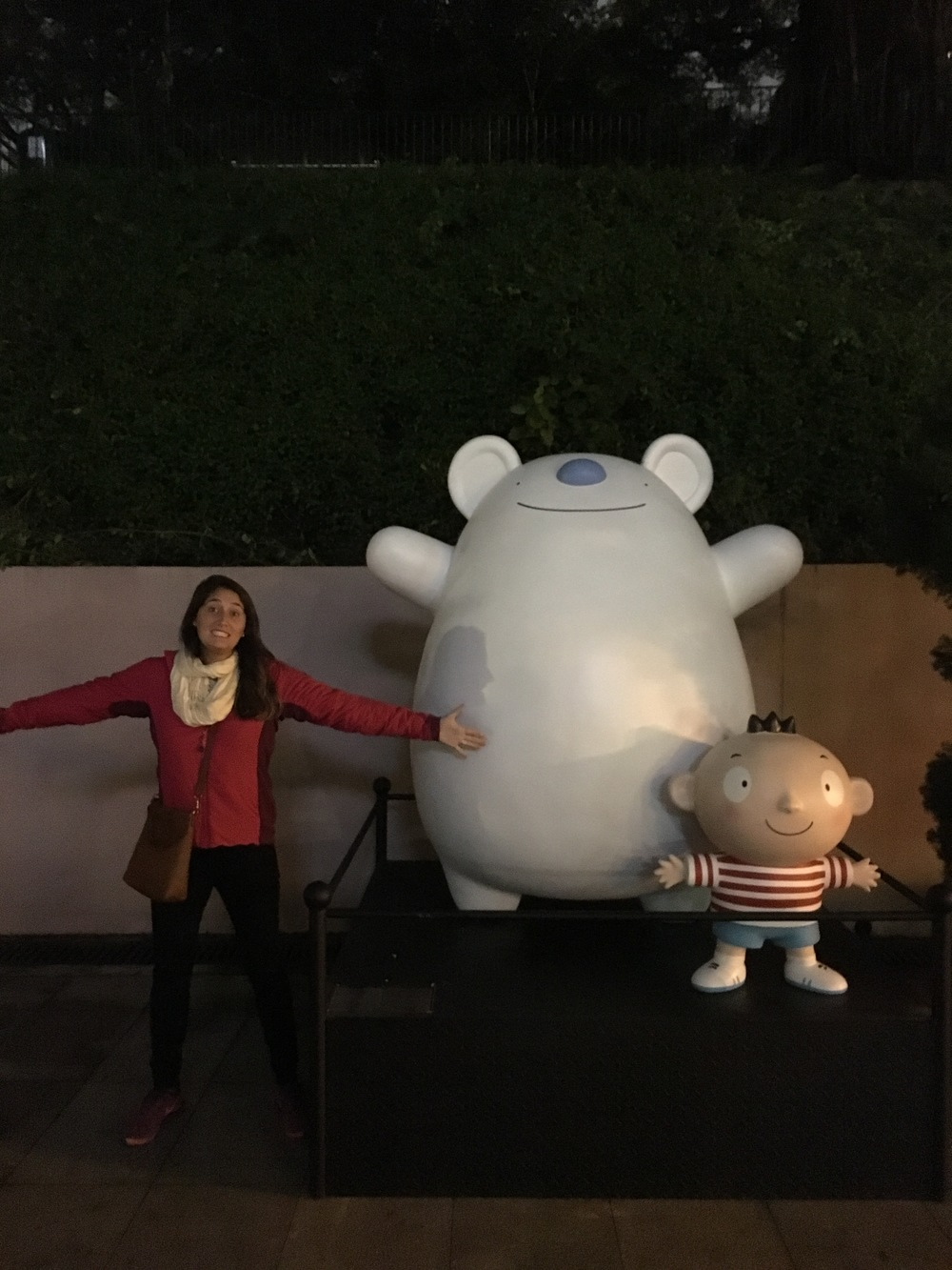 We found these funny characters in a park because Hong Kong