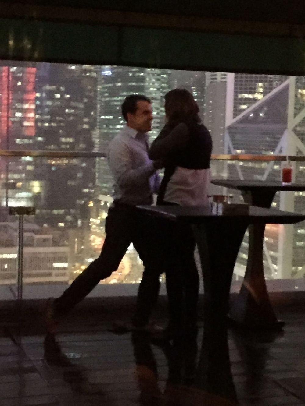 Joe and Katherine got engaged at Sevva!