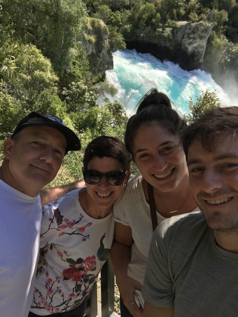 Family at Huka Falls