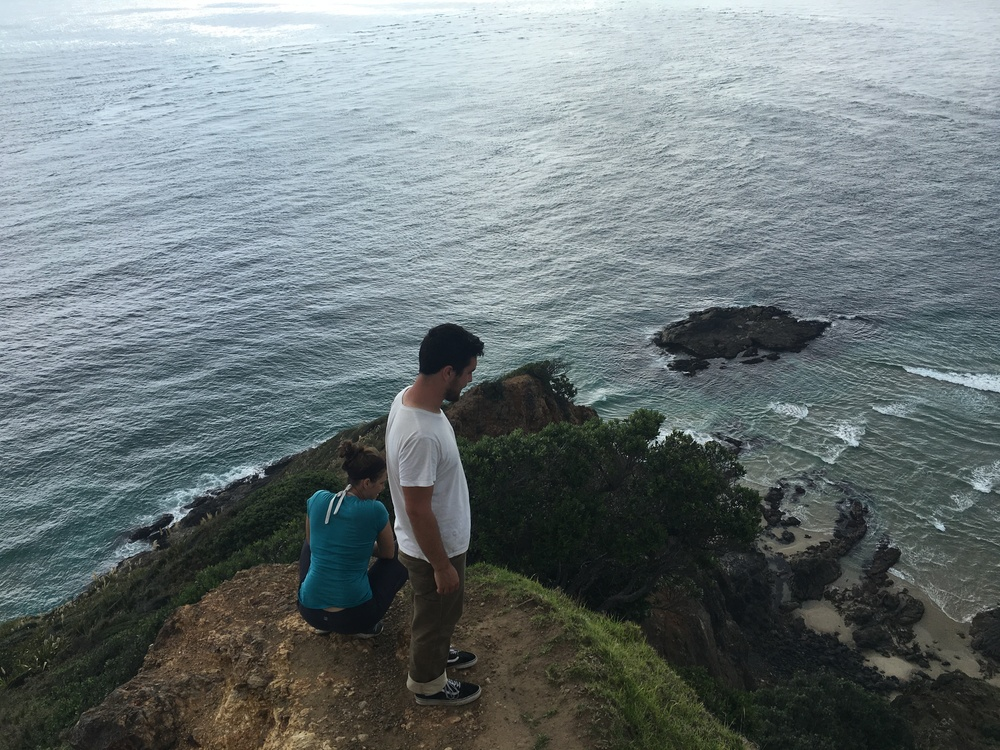 Alex and Annabeth on Cape Reinga