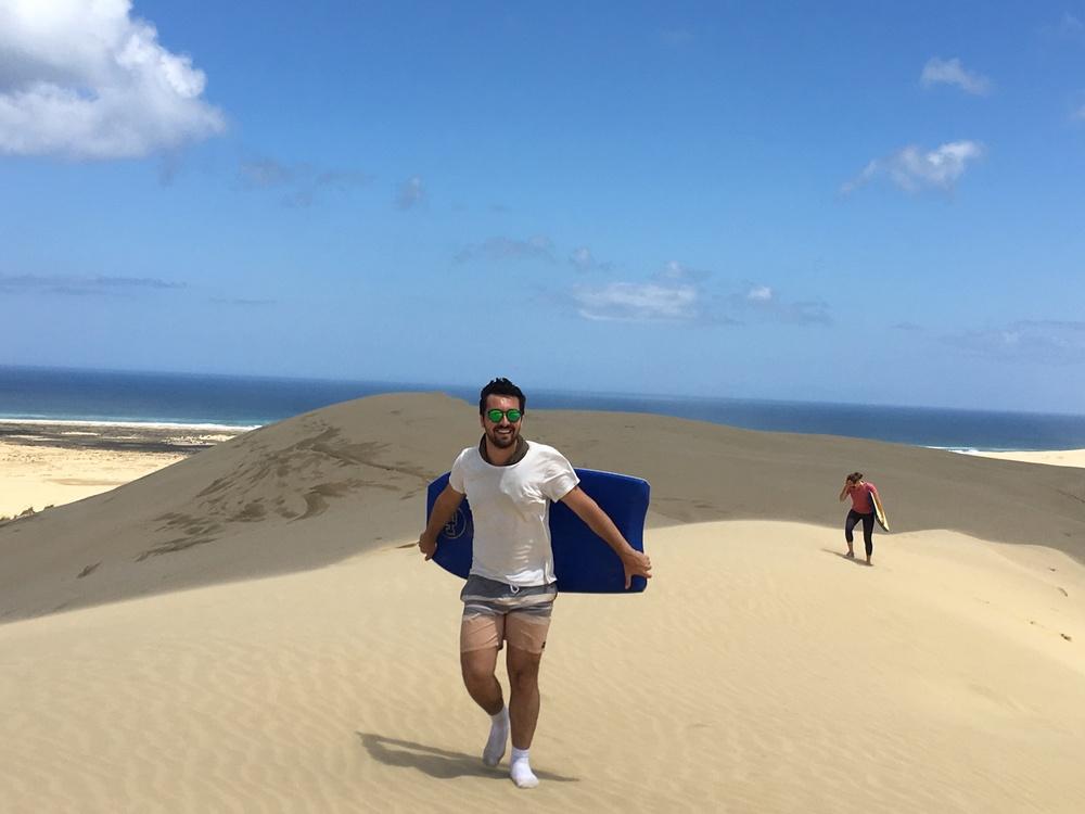 Alex on Te Paki sand dunes