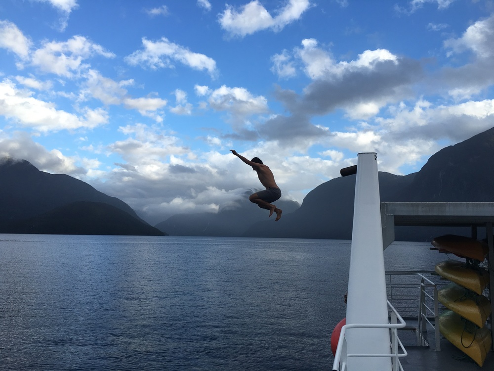 Jumping into Doubtful Sound!