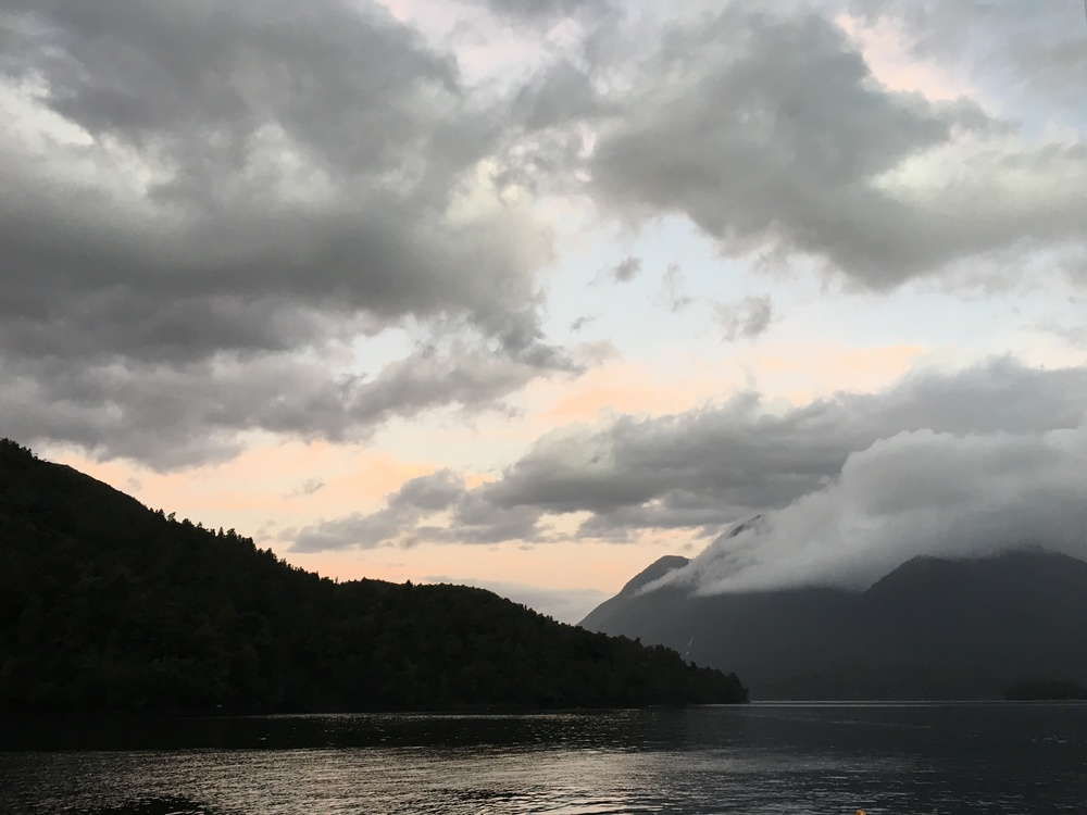 Sunset over Doubtful Sound
