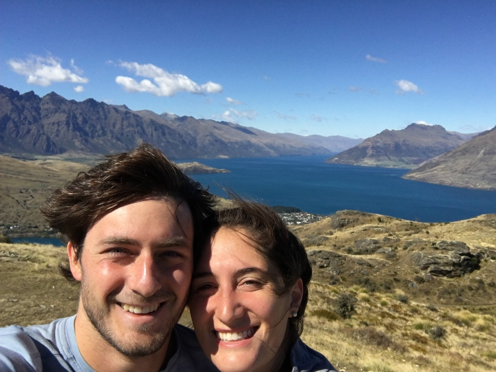 Windy Queenstown Hill Hike selfie