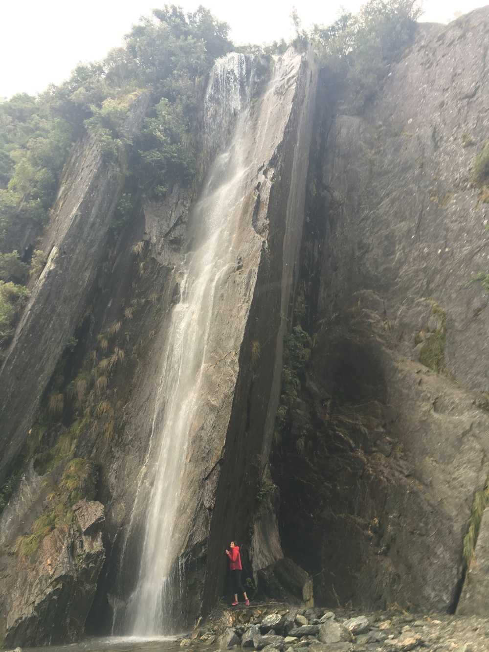 Waterfall near Franz Josef Glacier