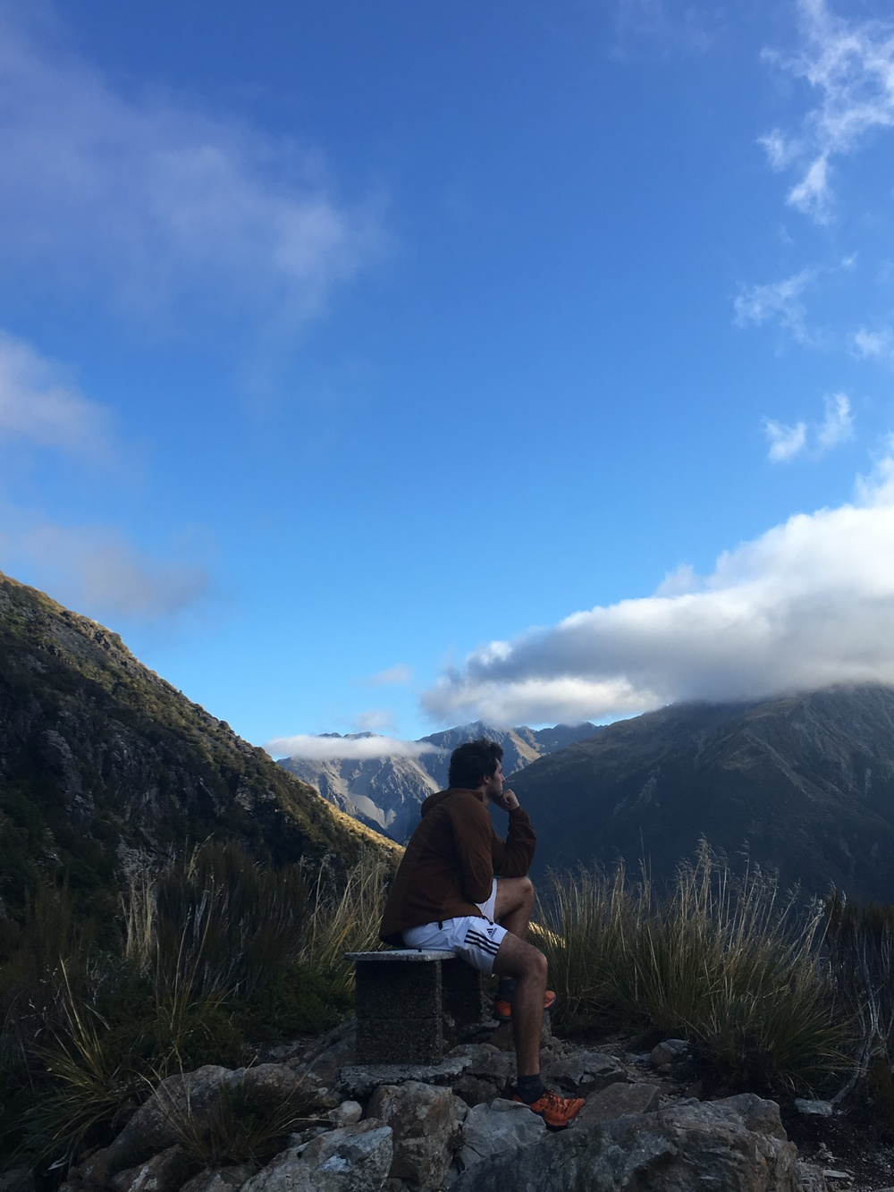 The Thinker at Temple Basin Hike in Arthur's Pass