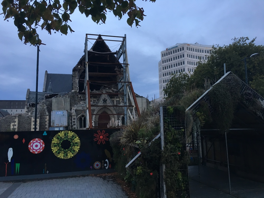 Christchurch's cathedral post-earthquake