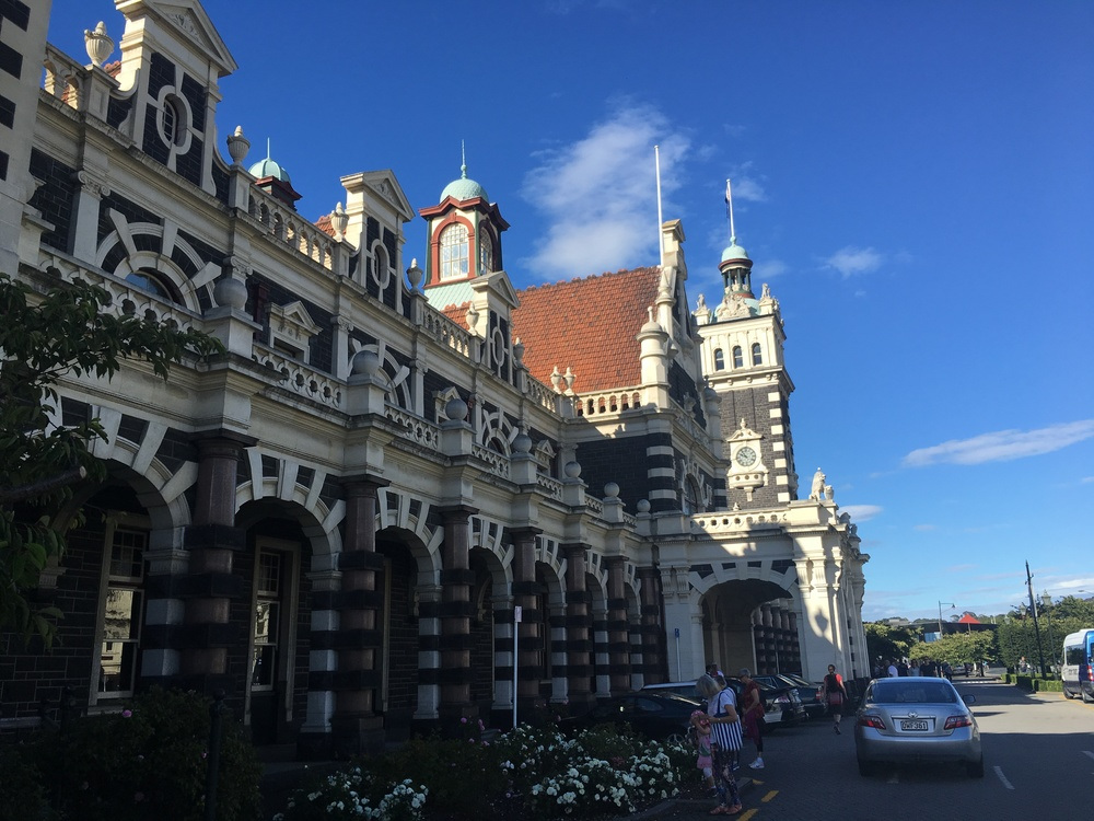 Dunedin Train Station, which is only used as a hub for scenic train ride + farmers markets