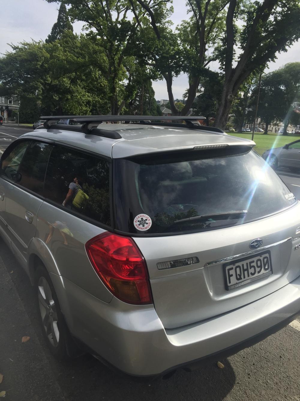 We found an ALTA STICKER on this random Dunedin car. The world is small!!