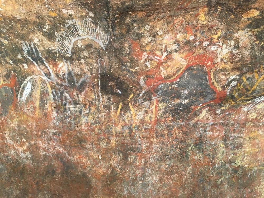 Aboriginal cave drawings