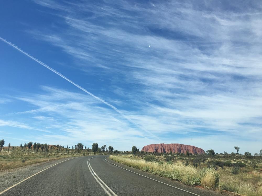 Driving back toward Uluru