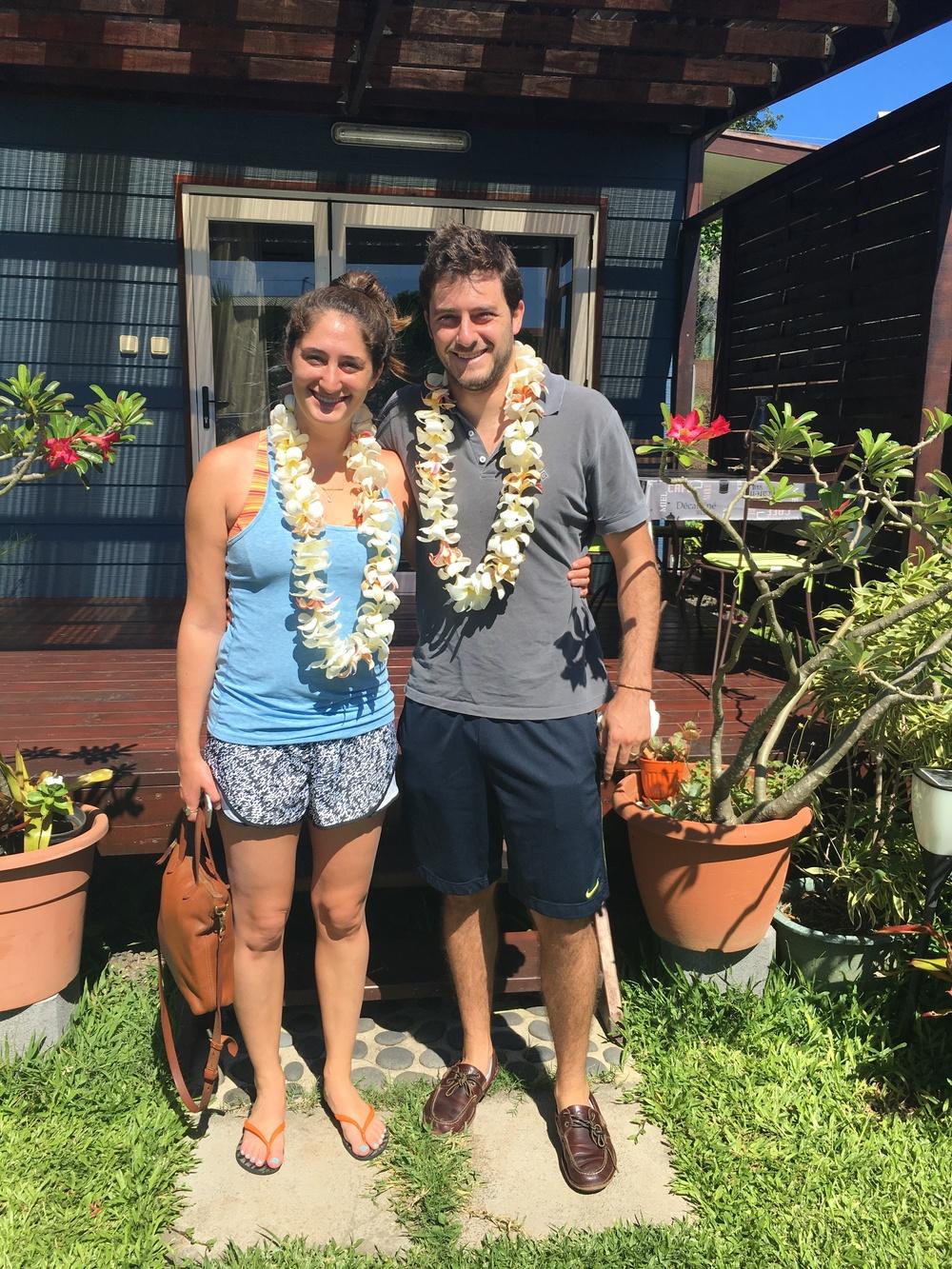 A lei welcome to Tahiti