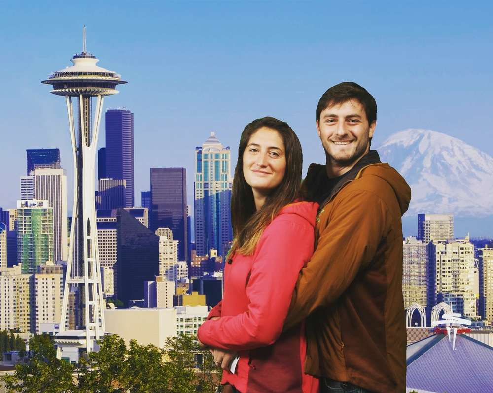 Awkward family photos at the Space Needle