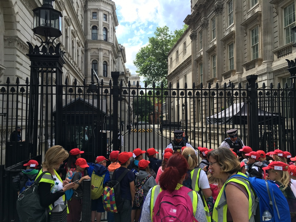 School trip to 10 Downing Street