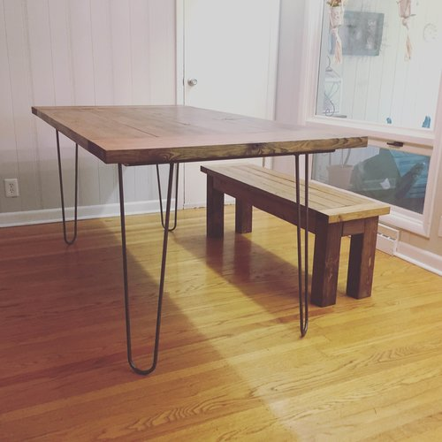 Hairpin leg dining table north meridian furniture hairpin leg dining table watchthetrailerfo