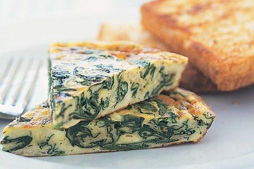 Spinach Frittata Breakfast