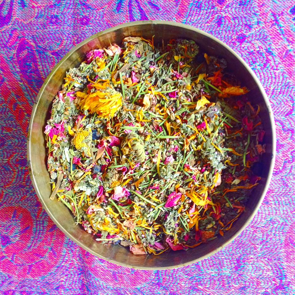 The Embrace Bajos Yoni Steam is our latest and most loving blend of herbs. Described as a pretty and potent Yoni hug it is the perfect self loving ritual this full moon. View our full range of Self Love products and services.