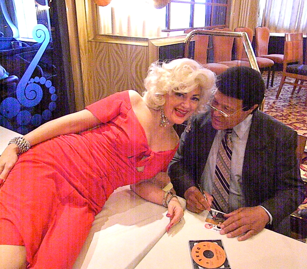 Sheri with Chubby Checker