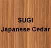 SUGI (Japanese Ceder)