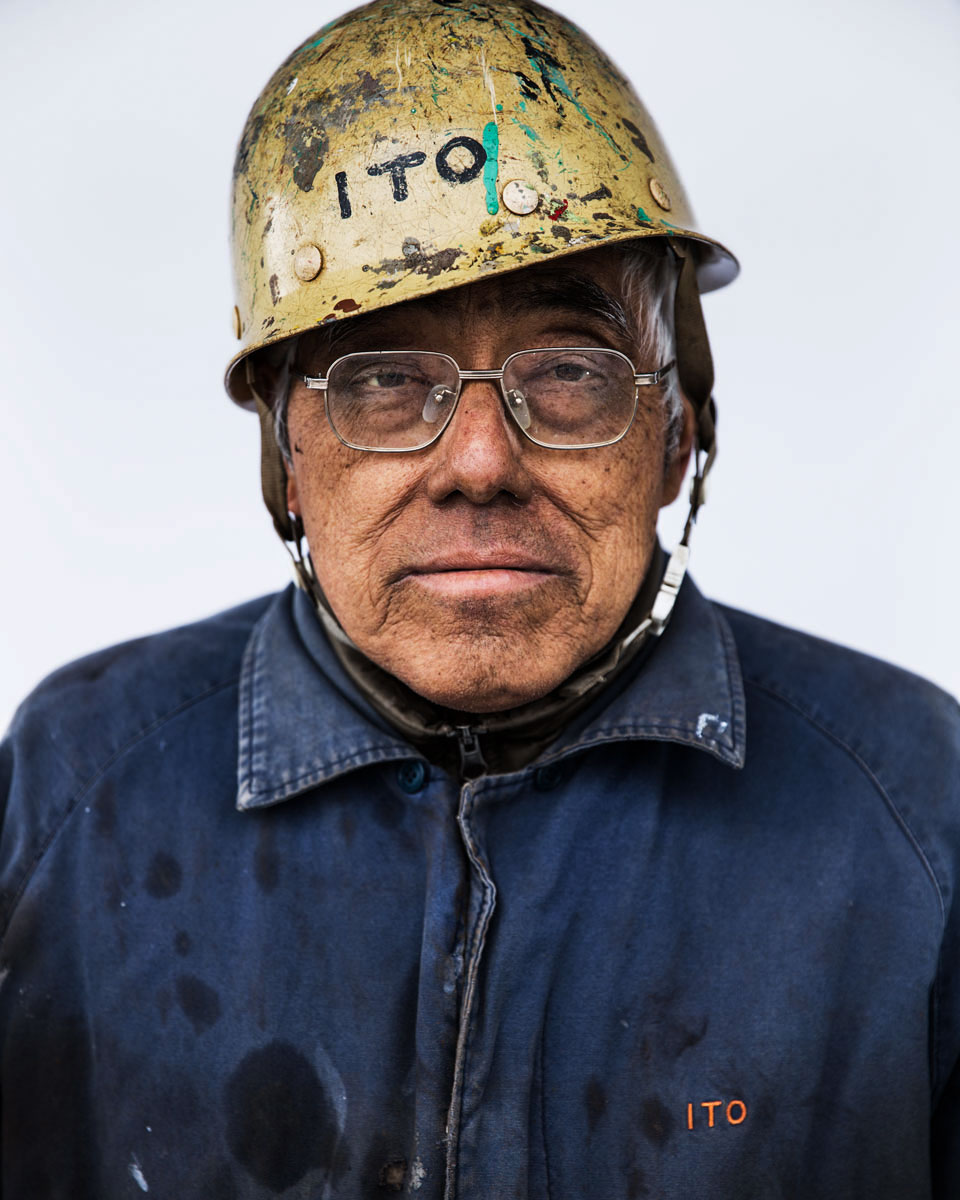 A shipyard worker Sasebo, 2016