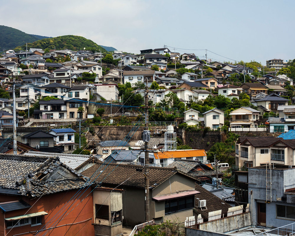 A residential area right next to downtown (Sasebo, Japan 2014)