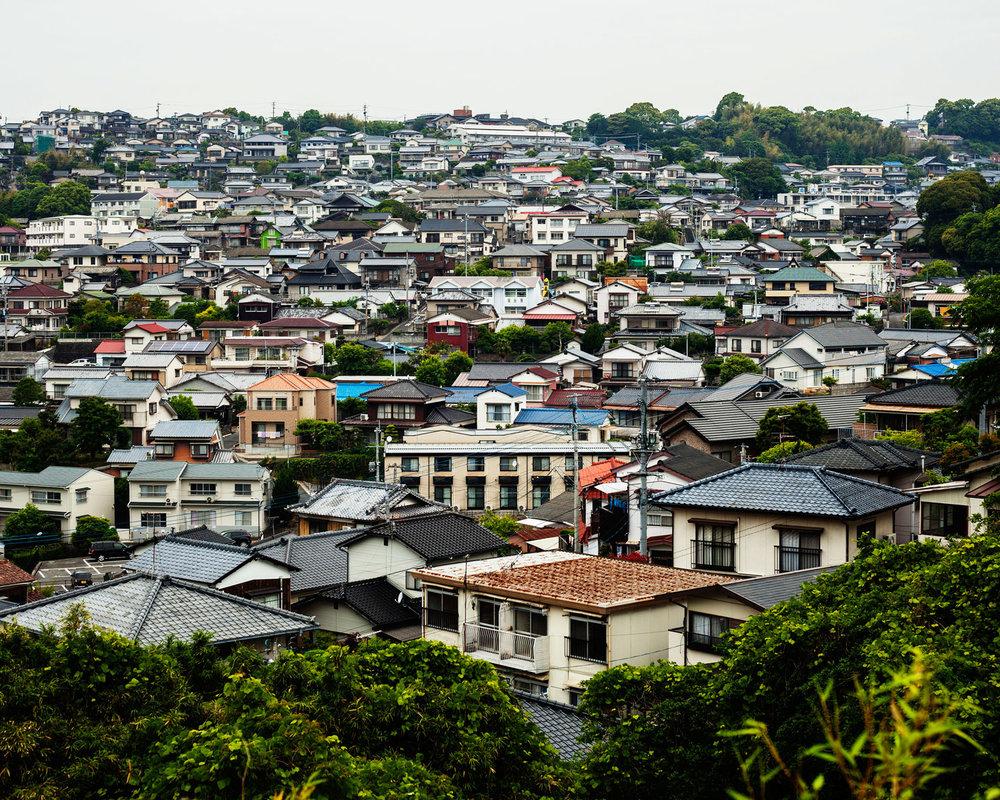 A bed town (Sasebo, Japan 2014)
