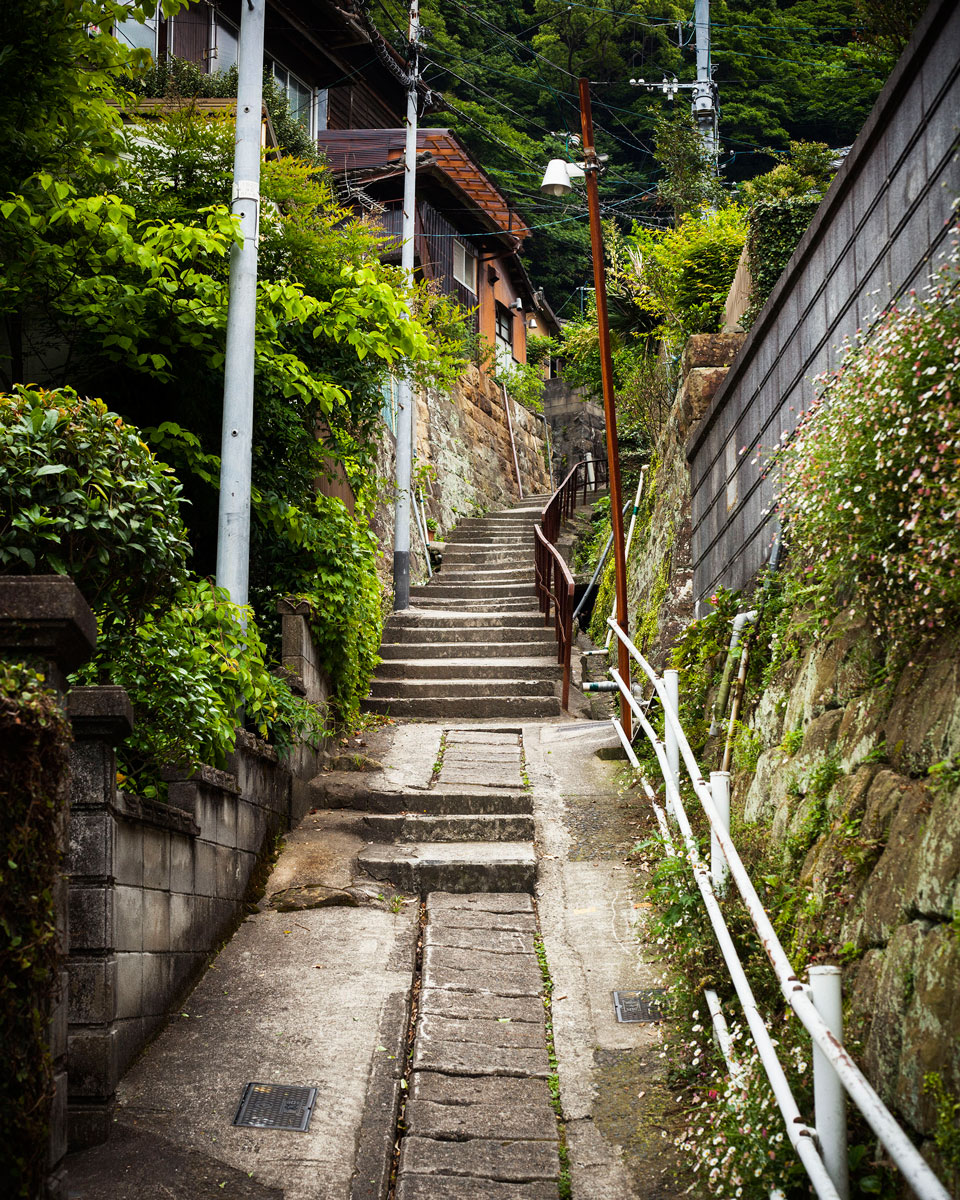 A path in residential area (Sasebo, Japan 2014)
