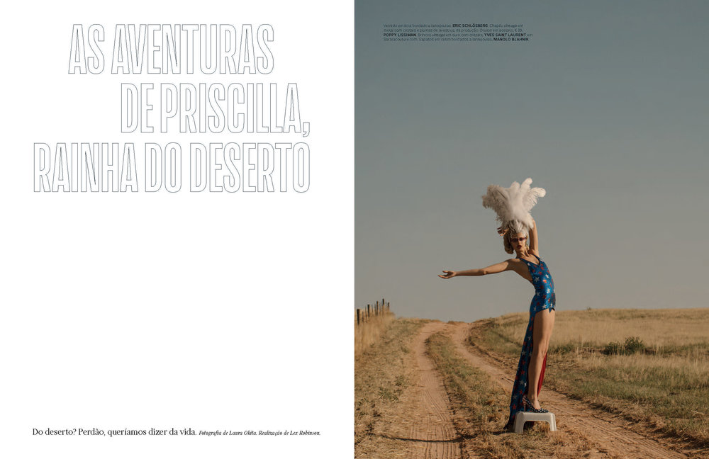 vogue portugal september 2018 main fashion editorial inspired by priscilla queen of the desert opening image