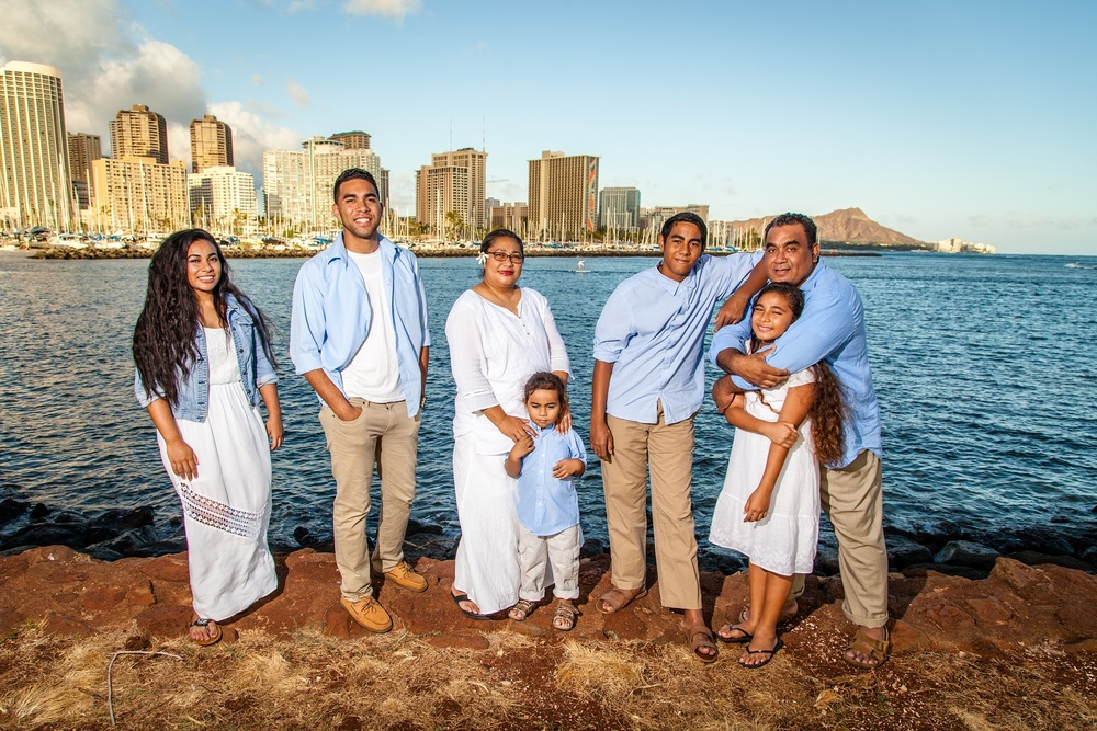 oahu family beach portraits