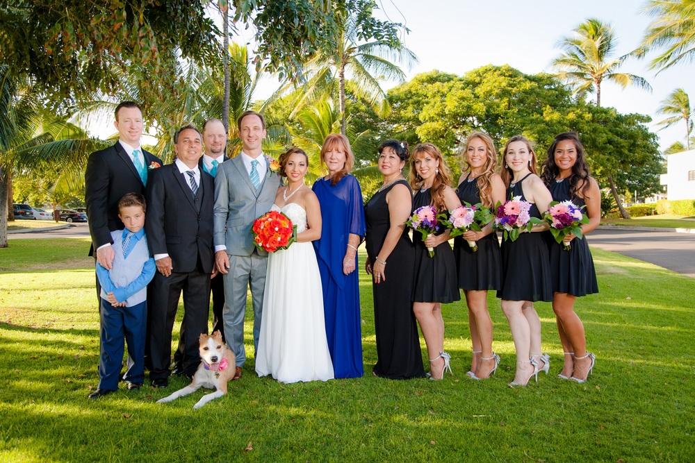 wedding day family photos hawaii oahu photographer