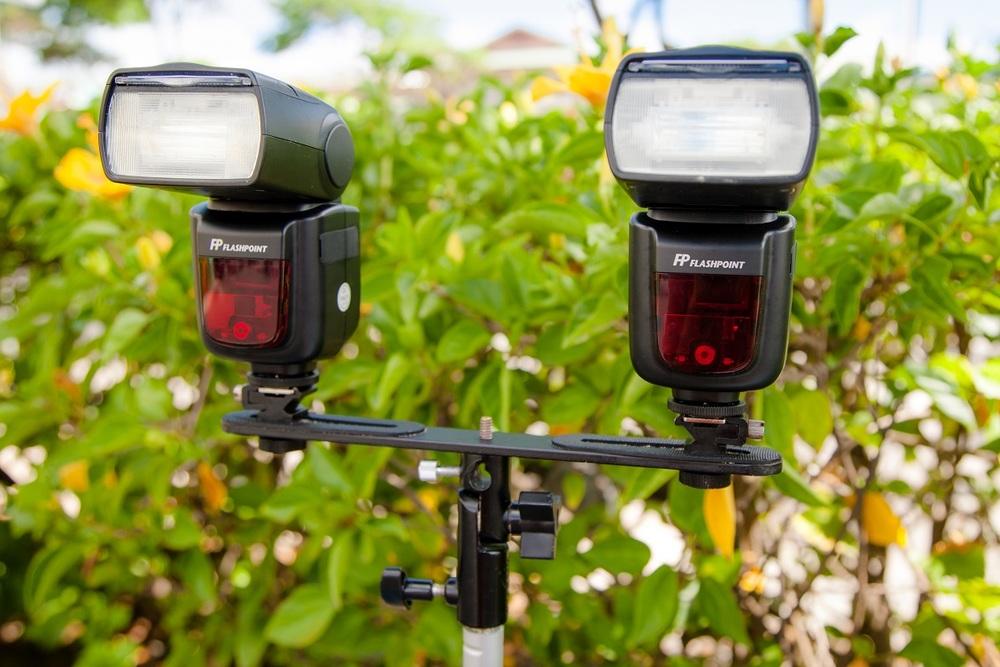 dual speedlight flash set up