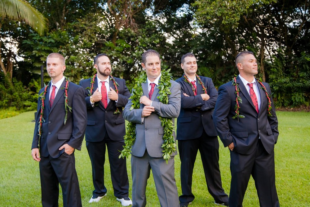 groomsmen oahu destination wedding photography