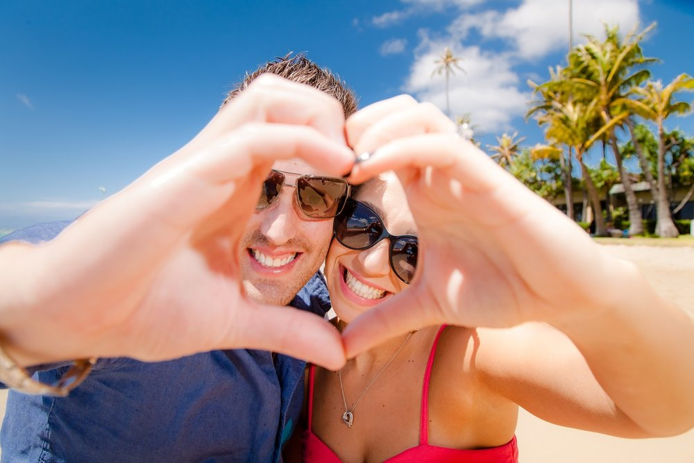 waikiki couples portrait photography