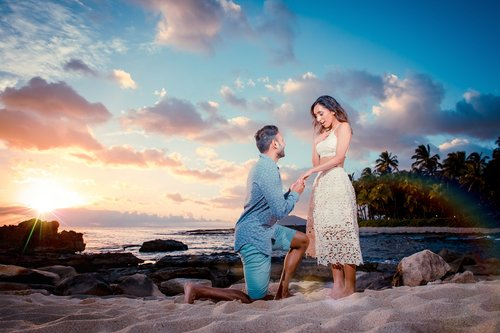 Couple photo shoot oahu beach surf