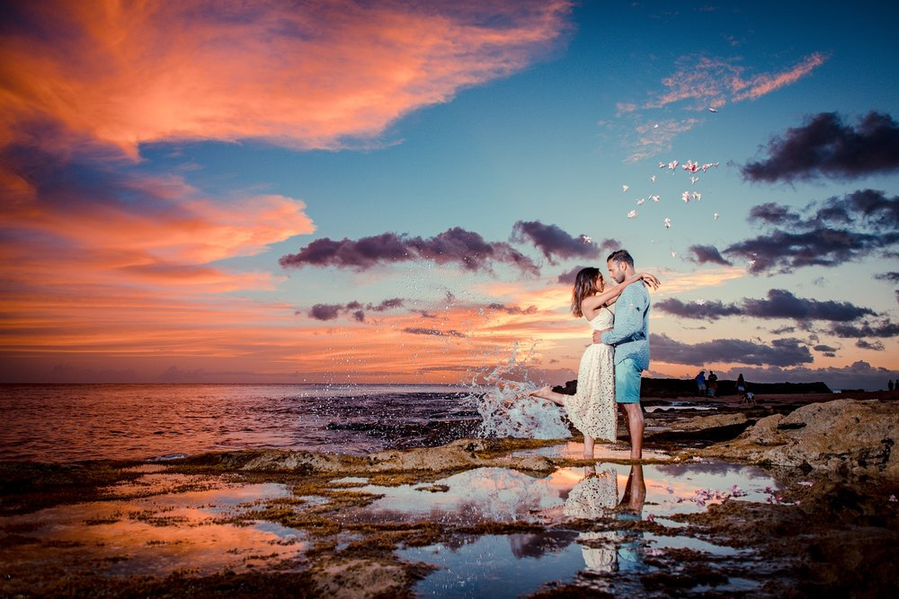 couples surprise proposal engagement photography