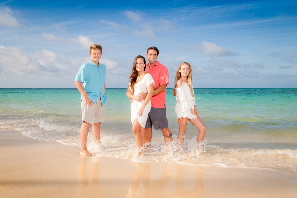 lanikai beach family photography kailua