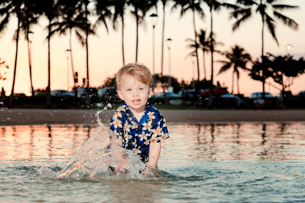 children family kids photography sunset beach waikiki oahu