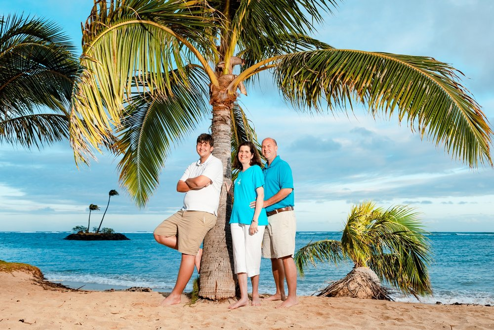 family vacation beach portrait kahala hotel resort oahu hawaii